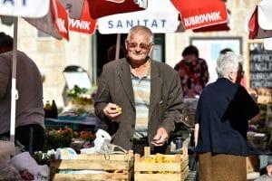 Gundulic Square dubrovnik market