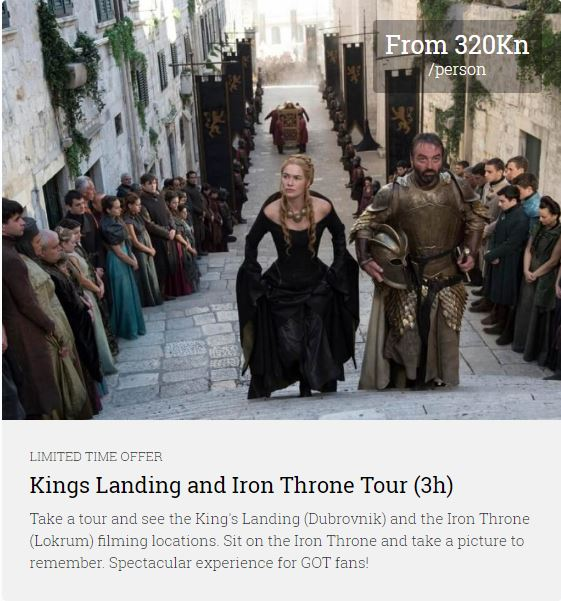 Kings Landing Iron Throne Tour Dubrovnik